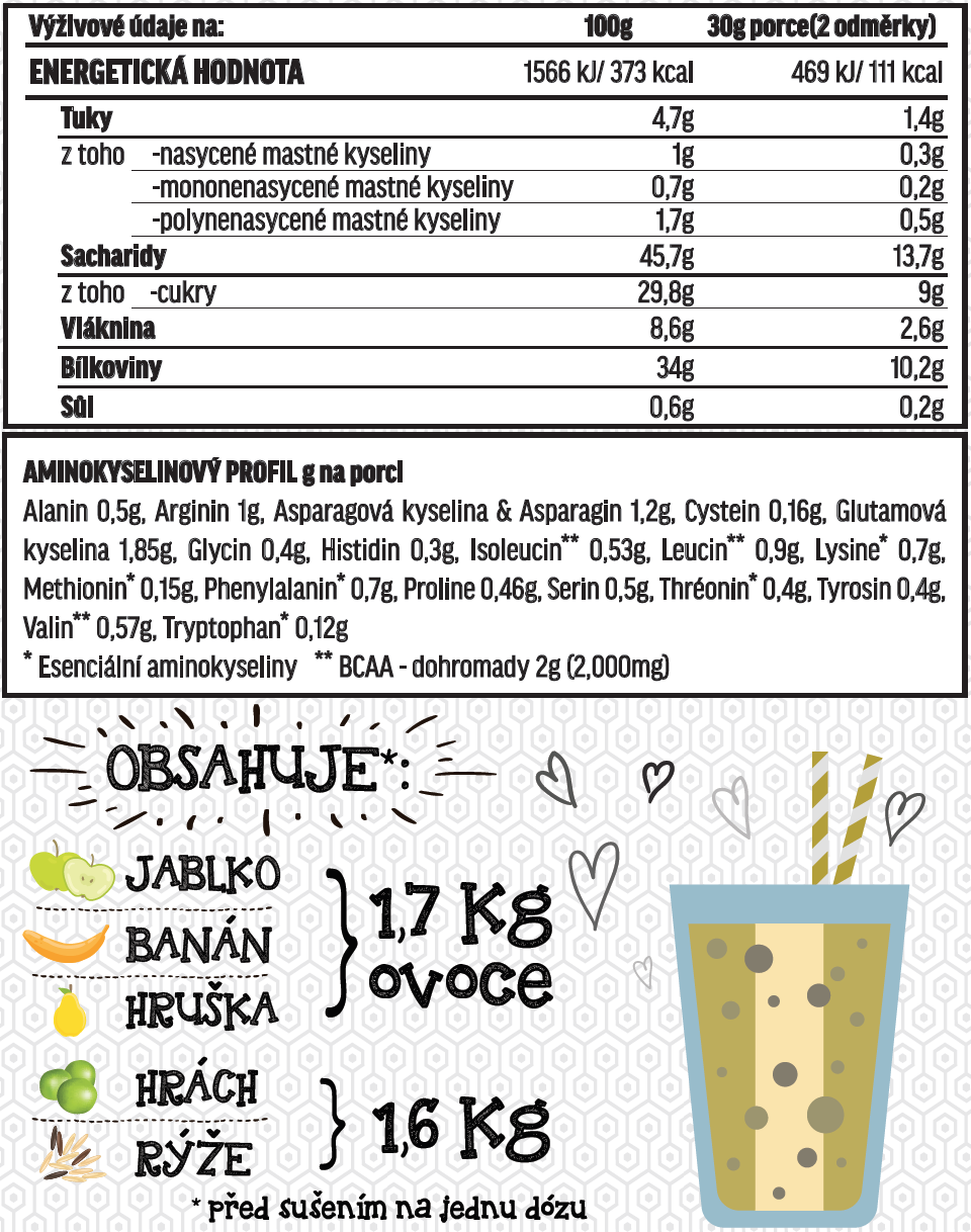 Fit-day Smoothie banán čokoláda 600g