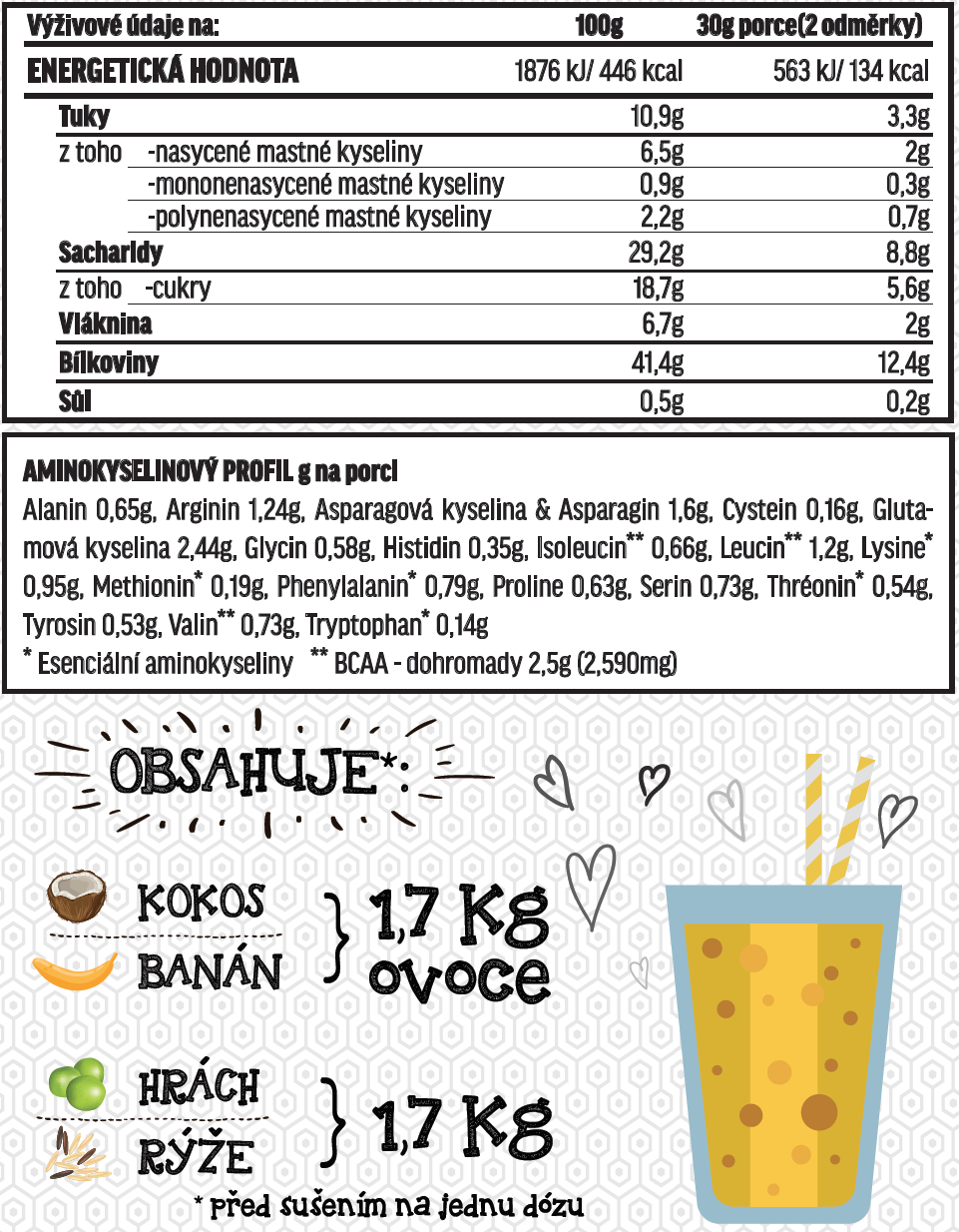 Fit-day Smoothie banán-kokos 600g